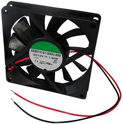 AERZETIX: Ventilateur pour boîtier d'ordinateur PC 12V 80x80x15mm 62,86m3/h 34,7dBA 3000rpm 24AWG