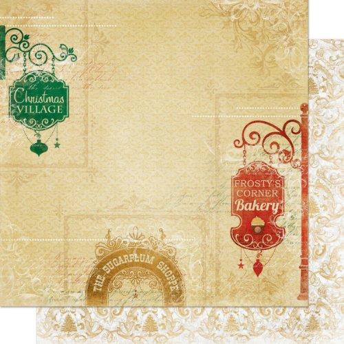 Bo Bunny 12x12 Paper (Bo Bunny 12x 12Zoll Silber/Gold und Geschenk shoppes Papier, Mehrfarbig)