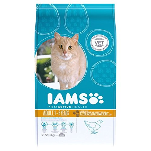 2.55kg pollo seco Iams Adult Cat Food Light