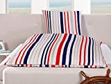 Goldmond Bed Ahoi Bettwäsche, Maritime, Stripes, 80 x 80 + 135 x 200 cm