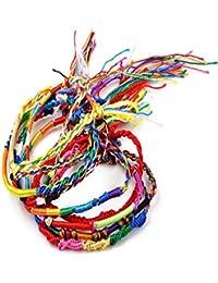 Ularma 2016 Joyería por mayor trenza de muchos filamentos amistad cordones pulseras hechas a mano