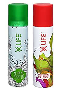 Life Deodorant for Women, 150ml (pack of 2)- Floral Karma, Peppermint Punch(8779941)
