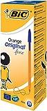 BIC Kugelschreiber Orange fine / 20 Kulis in Blau / Strichstärke 0,35 mm - fein / Dokumentenecht