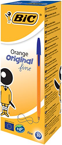bic-orange-original-fine-ballpoint-pen-blue-pack-of-20