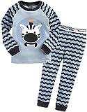 Vaenait baby 74-122 Saeugling Jungen Bekleidung Langarm zweiteilig Schlafanzug niedlich Blue Rookie XS