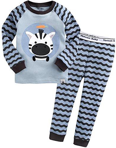 Vaenait baby 74-122 Saeugling Jungen Bekleidung Langarm zweiteilig Schlafanzug niedlich Blue Rookie S