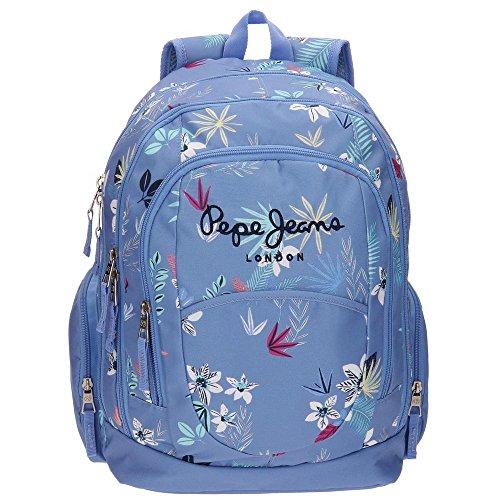 Pepe-Jeans-65224A1-Mireia-Mochila-Escolar-44-cm-2394-Litros-Azul