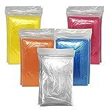 10 x Regenponcho bunt mit Kapuze / wasserdicht / mehrere Farben - Notfallponcho - Regencape