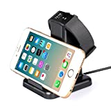 MixMart Fitbit Charge 2 Charger Charging Station and Universal Cell Phone Stand