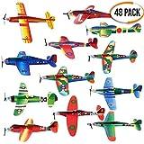 THE TWIDDLERS 48 aerei di carta: aeroplani giocattolo in 12 diversi modelli: Alianti volanti perfetti come regalini da festa, ricompense di classe e per riempire i sacchetti regalo per bambini