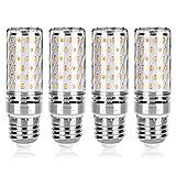 Wedna lampadine LED di mais, E27 15 W 1500LM, 120W equivalenti a incandescenza, Luce Bianca Calda 3000K, Non Dimmerabile, Risparmio Energetico Mais Lampadina - 4 Pezzi