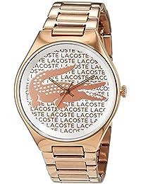 Lacoste Damen-Armbanduhr Valencia Analog Quarz Edelstahl beschichtet 2000929