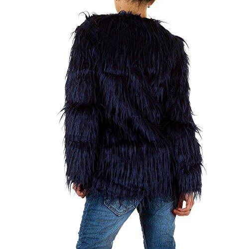 Ital-Design - Blouson - Femme Bleu - Bleu