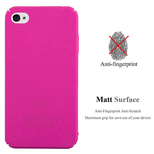 Cadorabo – Mattes Hard Cover Slim Case Frosty passend für >            Apple iPhone 4 / 4S            < - Cover Schutz-hülle in FROSTY-GRÜN FROSTY-PINK