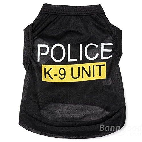 Bazaar Polizei der mode k-9Laufwerk Kostüme Kleidung Kleidung für Hunde Hund T-Shirts (Mode Polizei Kostüm)