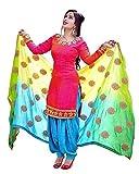ShopVilla Women's Cotton Dress Material (Pink, Free Size)