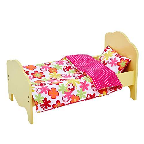 Olivia's Little World- Cama para muñeca, Color Amarillo (Teamson TD-11929-1J)