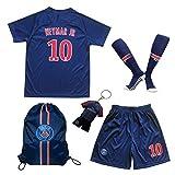 2018/2019 Paris #10 Neymar JR Heim Kinder Fußball Trikot Hose und Socken 28 (11-12 Jahre)