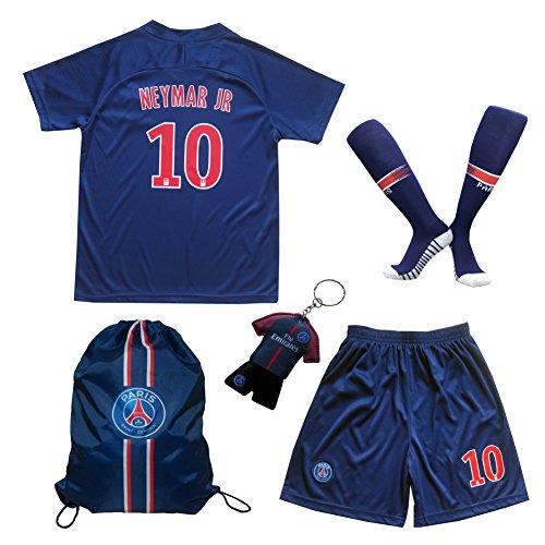 2018/2019 Paris #10 Neymar JR Heim Kinder Fußball Trikot Hose und Socken 26 (9-10 Jahre)