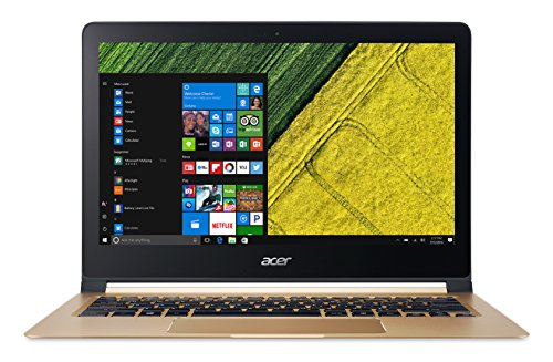 "Foto Acer Swift 7 SF713-51-M8E4 Notebook, Display da 13.3"" FHD, Processore Intel Core i5-7Y54, RAM da 8 GB DDR3, SSD 256 GB, Scheda Grafica Intel HD, Oro"