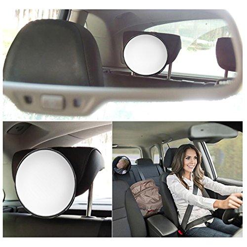 FineFun Baby Auto-Spiegel mit \'Baby Rücksitz Spiegel mit Rückseite, Baby, quadratisch für Kinder mit