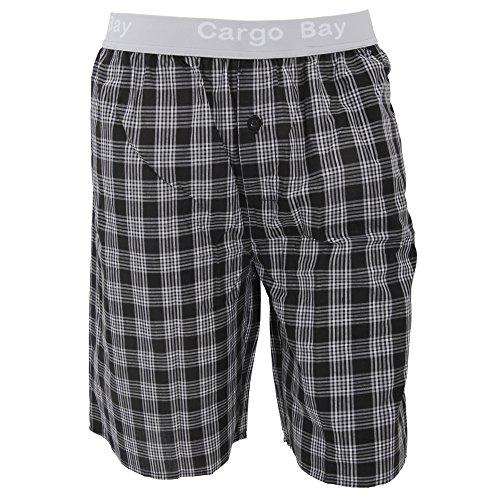 cargo-bay-short-de-pyjama-a-carreaux-homme-large-taille-91-96-cm-noir-gris-blanc