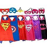 Juguetes de Navidad para niñas de 3-10 años, capa de superhéroe para niñas Juguetes de superhéroes para niñas niños Vestir para niñas Presente de cumpleaños para niñas capa de dibujos animados máscara
