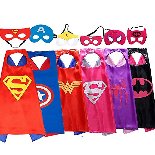Weihnachten Spielzeug für 3-10 Jahre altes Mädchen, Superhelden Cape für Mädchen Superhelden Spielzeug für Mädchen Kinder anziehen für Mädchen Geburtstagsgeschenk für Mädchen Cartoon Cape Maske