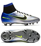 Nike Unisex-Kinder Jr Mercurial Vctry 6 DF Njr FG Fußballschuhe, Blau (Racer Blue Black Chrome Volt 407), 37.5 EU