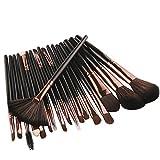 MORETIME Pinceaux Maquillages Professionnels Kit de 18pcs,100% Sans Cruauté, Soyeux et Denses,New 18 pcs Makeup Brush Set tools Make-up Toiletry Kit Wool Make Up Brush Set