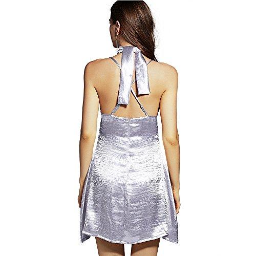 ZAFUL - Robe - Trapèze - Femme silver