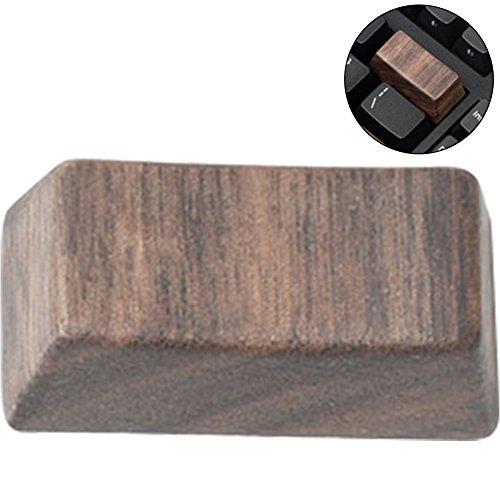 wingoffly Premium Qualität Schwarz Walnuss Holz Mechanische Tastatur Tastenkappe 1PC Backspace - Qualität Walnuss