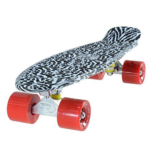 LAND SURFER® Retro Cruiser, komplettes Skateboard mit dreifarbig gemustertem - Farbige Ach Preisvergleich