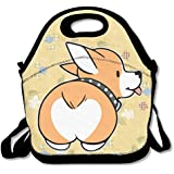 Corgi Butt Waterproof Lunch Tote Bag Portable Picnic Lunch Box Lunch Pouch