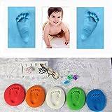 Ballylelly Infant Baby Kinder Handabdruck Fußabdruck Ton Spezielle Baby DIY Lufttrocknende Tone (Farbe: Pink)