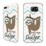 Handyhülle Faultier Samsung Silikon Sloth Chill Tier Einhorn Lama Flamingo Koala, Handy:Samsung Galaxy S7 Edge, Hüllendesign:Design 1 | Silikon Klar