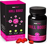 BRAINEFFECT KRILL BOOST 590mg | Omega 3 altamente dosificado | Rico en EPA,DHA y astaxantina | puro...