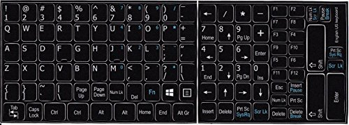 English US with additional key non transparent keyboard stickers Averatec Windows-laptop-notebooks