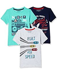 Sunday Sale : Flat 50% And More OFF On Cherokee Boys' Plain Combo T-Shirt (Pack of 3) low price image 1