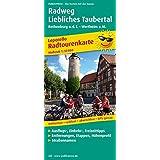 Radweg Liebliches Taubertal: Radwanderkarte mit Ausflugszielen, Einkehr- & Freizeittipps, wetterfest, reissfest, abwischbar, GPS-genau. 1:50000