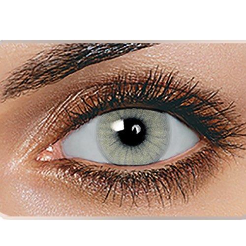 Swiftt Farbige Kontaktlinsen 1 Paar(2 Stück) Ohne Stärke - Verschiedene Farben - Jahreslinsen - Durchmesser: 14.50mm - Krümmungsradius: 8.60° - Wassergehalt: 38% - Angenehm zu Tragen (Quartz)