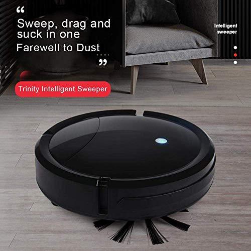 Aspirateur Robot 3 en 1, Lesgos Robot Aspirateur Laveur avec fonction lavage de sol, Système de Nettoyage Puissant, Recharge Auyomatique pour les poils d'animaux, Moquettes et Sols Durs (Noir)