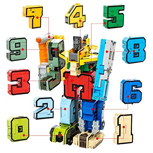 Balai Numero Alfabeto Trasformazione Giocattolo Robot, Giocattolo Robot deformazione Digitale per Un Grande Robot di apprendimento precoce per i Bambini