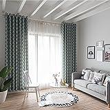 Bloomma Drapes Vorhang, 70% Transparenz Polyester Faser Printed Vorhang Panel für Kinder Schlafzimmer Wohnzimmer Balkon, 100x 280cm blau
