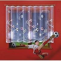 "Ready Made niños Jacquard cortina tela caída de ""El fútbol"" Ancho 300cm/118x 120cm/47"""