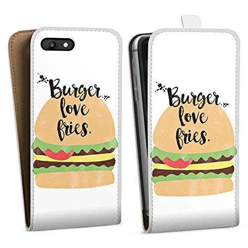 Apple iPhone X Silikon Hülle Case Schutzhülle Burger Fastfood Essen Downflip Tasche weiß