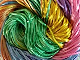 #7: NEW Pastel Bright Mixed Colors Malai Dori (Approx 85 Meters) Thick Satin (Rattail) Silk Yarn 190 Grams Ideally used for knitting, crochet and as well as macramé projects, Bracelet ,Bags, Home Decors and other Craft projects...