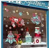 Comfot Weihnachten Elektrostatische Glas Aufkleber Niedliche