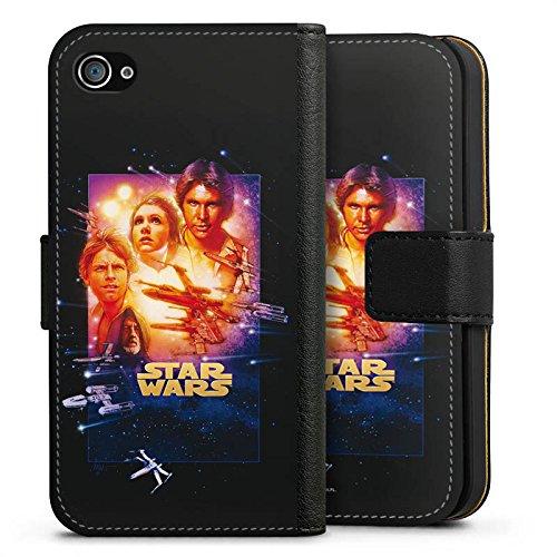 Apple iPhone X Silikon Hülle Case Schutzhülle Star Wars Merchandise Fanartikel A New Hope Special Edition Sideflip Tasche schwarz