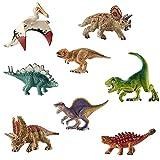 deAO Figure di Dinosauro Realistici Personaggi Preistorici SET (Mini Set (x8))